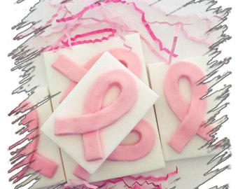 Think Pink Breast Cancer Awareness Ribbon Shea Butter Soap