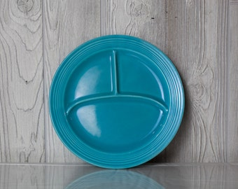 10 inch Turquoise Fiesta Ware Divided Plate
