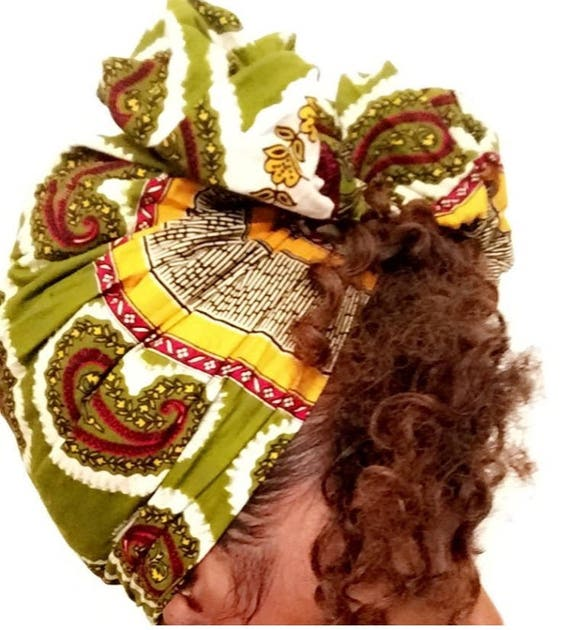 "The ""Green Leaf"" hair wrap"