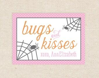 Digital Bugs & Kisses Halloween Tags