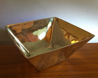 Laneras San Francisco brilliant hand crafted heavy sandcast aluminum square serving bowl