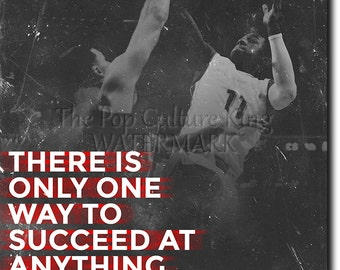"Basketball Motivational Print 10  ""There is only one way to succeed..."" 12x8 Glossy Art Photo Poster Gift - Motivation Inspiration"