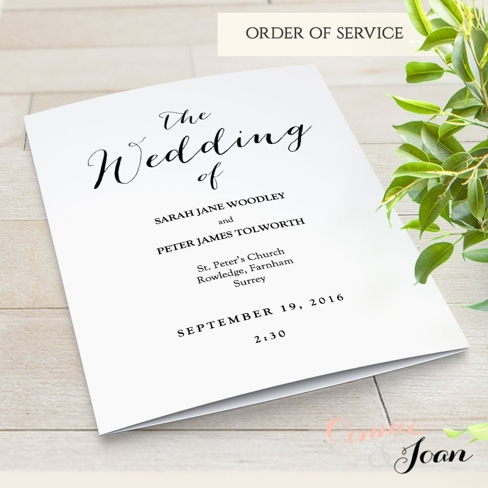wedding service program