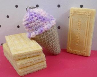 Porte-clés Glace || Fait main au crochet en amigurumi || Kawaii gift