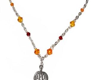 Pumpkin Crystal Necklace