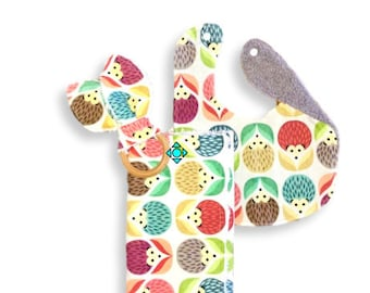 Combo <<Baby Woodland Hedgehog Flowers>>Burp Cloth/Bib/Teether/Teal//Blue//Yellow//Pink//Purple//Green//Orange//Red//Gray
