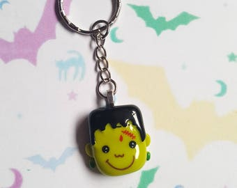 Frankenstein keyring, Frankenstein bag charm, Halloween keyring, Frankenstein, Monster, Zombie, Halloween, Horror, Gothic, Alternative, Emo