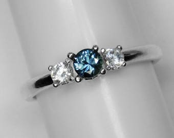 Montana / Sapphire / 3 Stone Ring / Engagement ring / Sterling / Silver