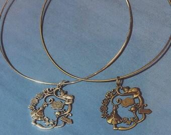 Alice in Wonderland Pendant Necklace