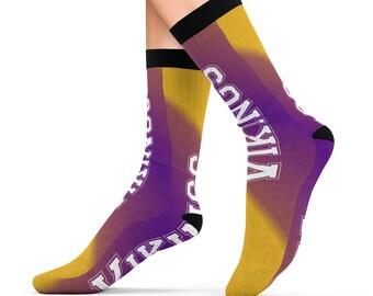 Minnesota Vikings Football Design Printed Sublimation Socks