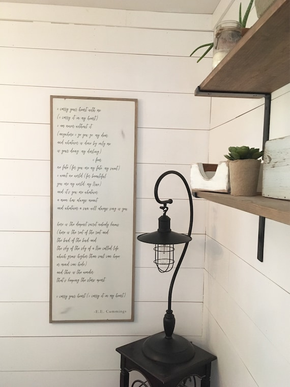 """CARRY YOUR HEART 18""""x48"""" sign 