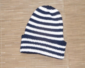Blue and white striped Cap sailor from 10 years