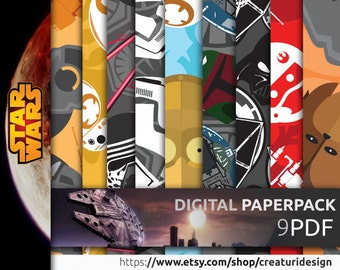 90% OFF Star Wars Digital Paper Pack