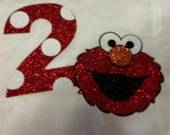 Elmo Birthday party shirt/ boy or girl