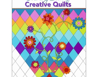"Coloring Book ""Coloring Book of Creative Quilts"" Classic Quilt Blocks *Landauer Publishing *Book Sale *Gift Idea *Geometric Coloring"
