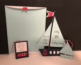 Baby Shower Sailboat Invitations
