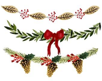 christmas clipart christmas planner stickers christmas borders rh etsystudio com vintage christmas clipart borders vintage christmas clipart free
