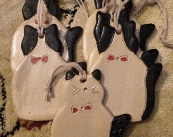 Tuxedo Cat Ornaments