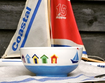 Beach Huts Cereal Bowl