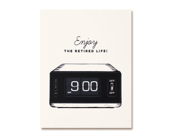 Retirement Card - Alarm Clock