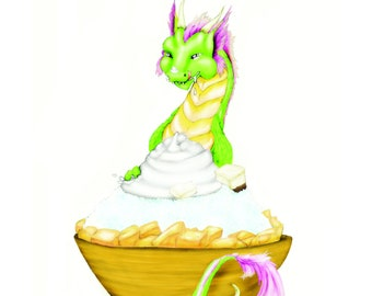 shaved ice dragon