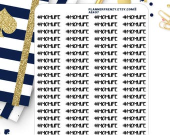 "80 ""Momlife"" Planner Stickers! AE407"