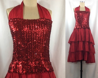 Vintage 70s/80s Sequin Prom Dress