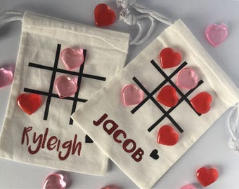 Valentine's Day Tic Tac Toe, Tic Tac Toe Game, Valentine's Day Gift,