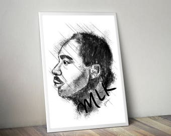 Martin Luther King Gliceé Art/Canvas Print [Limited Edition]