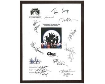 Clue Movie Script Signed Screenplay Autographed Tim Curry, Eileen Brennan, Madeline Kahn, Christopher Lloyd, Michael McKean, Martin Mull