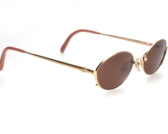 Christian Dior classy vintage oval sunglasses with stunning satin gold frame