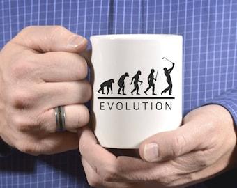 Golf Evolution Mug, Golf Gift, Gift For Men, Gift For Dad, Dad Gift, Golf Gift For Men, Father's Day, Golf Gift, Coffee Mug, Golf Mug 1121
