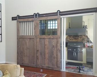 Bar custom barn doors