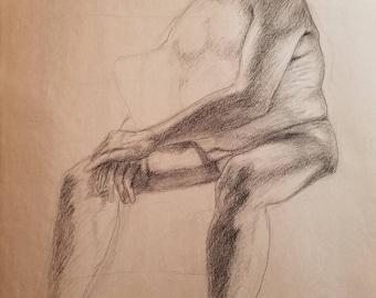 Male Figure Sitting