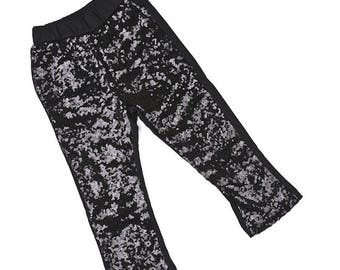 Black Sequin Pants / Black Sequin Leggings / Black Sparkle Pants / Shiny Black Leggings / Girls Pants / Girl Leggings / Toddler Leggings