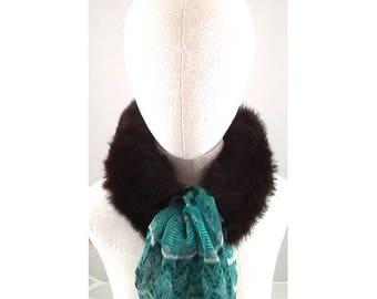 Rabbit fur scarf - Brown