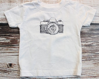 Retro Camera Embroidered Toddler T-Shirt