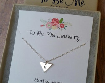 Initial Necklace Sterling Silver Gift for Women Personalized Jewelry Dainty Charm Necklace Gifts for Her