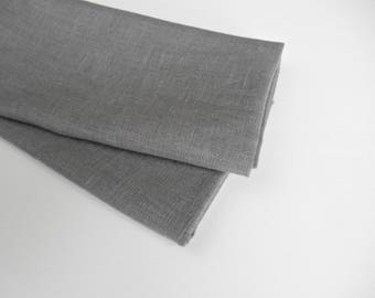 Gray Linen Napkins, Cloth Napkins, Table Napkins, Dinner Napkins