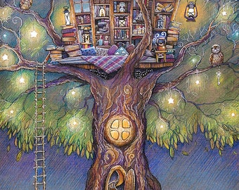 Tree House Original Art Gift Card