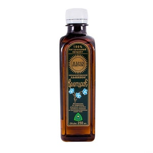 Organic Linseed unrefined Oil from Vologda, Russia 250 ml (8.4 oz)