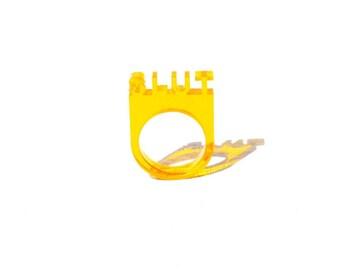 Translucent SLUT coral ring