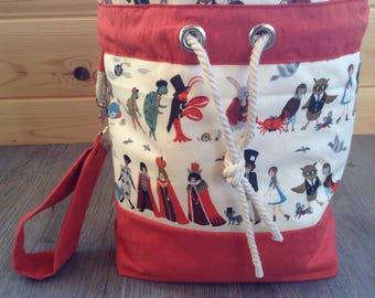Knitting Bag, Project Bag, Crochet Bag, Sock Knitting Bag, Shawl Knitting Bag, Makeup Bag