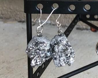 Silver Druzzy earrings