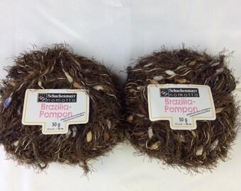 Schachenmayr Brazilia-Pompon Yarn - 2 New Balls