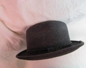 Vintage Gray Tweed Fedora