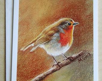 English Robin - bird notecard - bird stationary - paper goods - thank you notes - gift card set