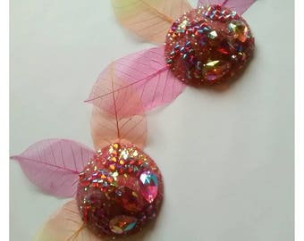 Fire flower pasties with skeleton leaf fans 5cm
