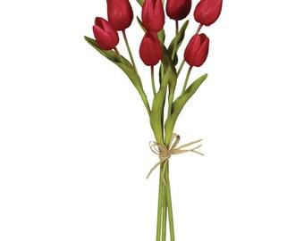 """Red Tulip Stem 15.5"""""""