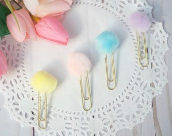 Spring / Easter pom paperclips